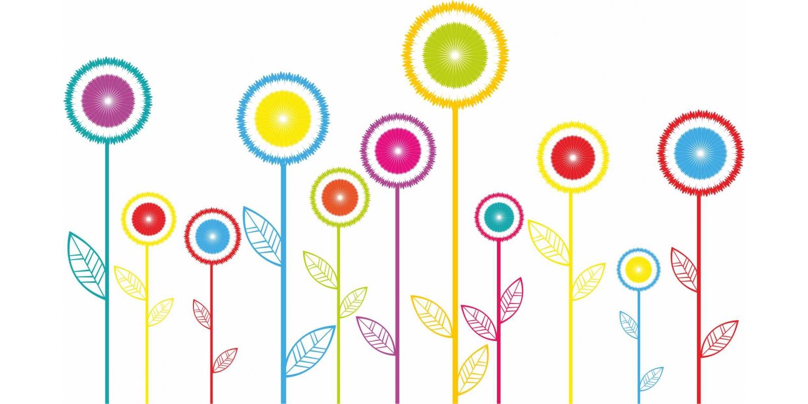 Loano il 2 giugno for Fiori stilizzati colorati