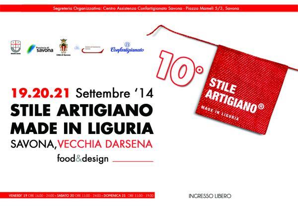 "Savona-""Stile Artigiano – Made in Liguria"" food e design"