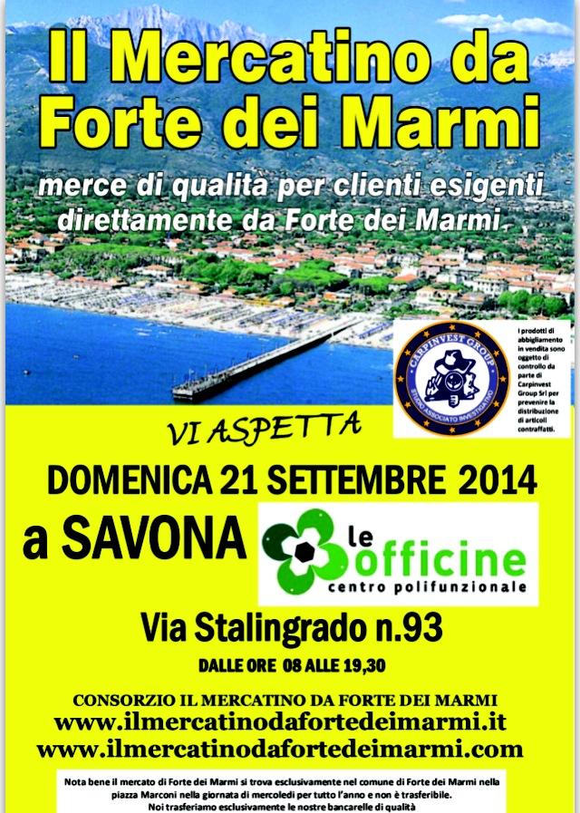 Savona: Mercatino da Forte dei Marmi al Centro Comm. Le Officine