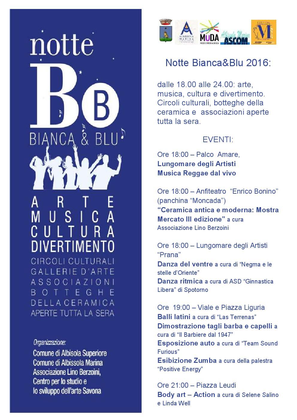 Albissola Marina-NOTTE B&b BIANCA&BLU