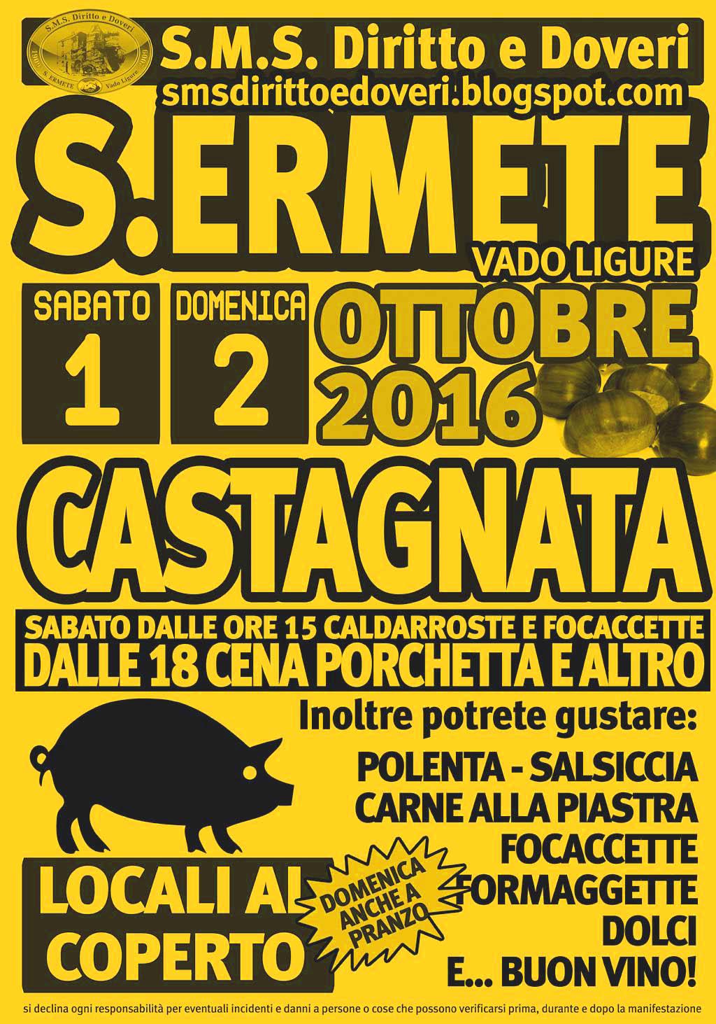 Castagnata e Porchetta a S.Ermete- Vado Ligure
