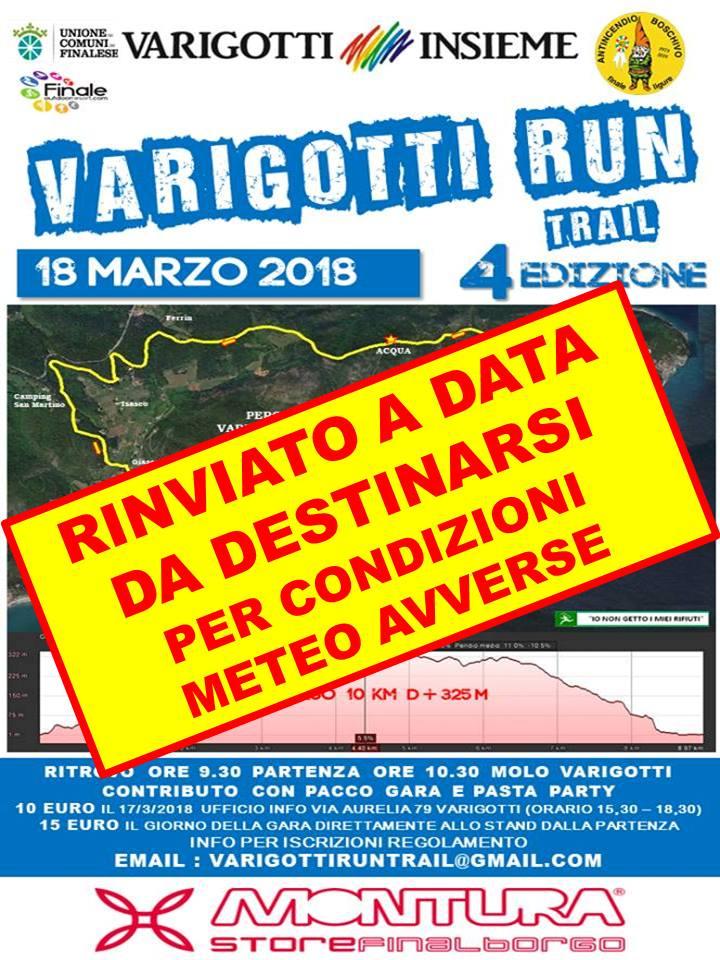 ATTENZIONE RINVIATO!Varigotti Run 2018