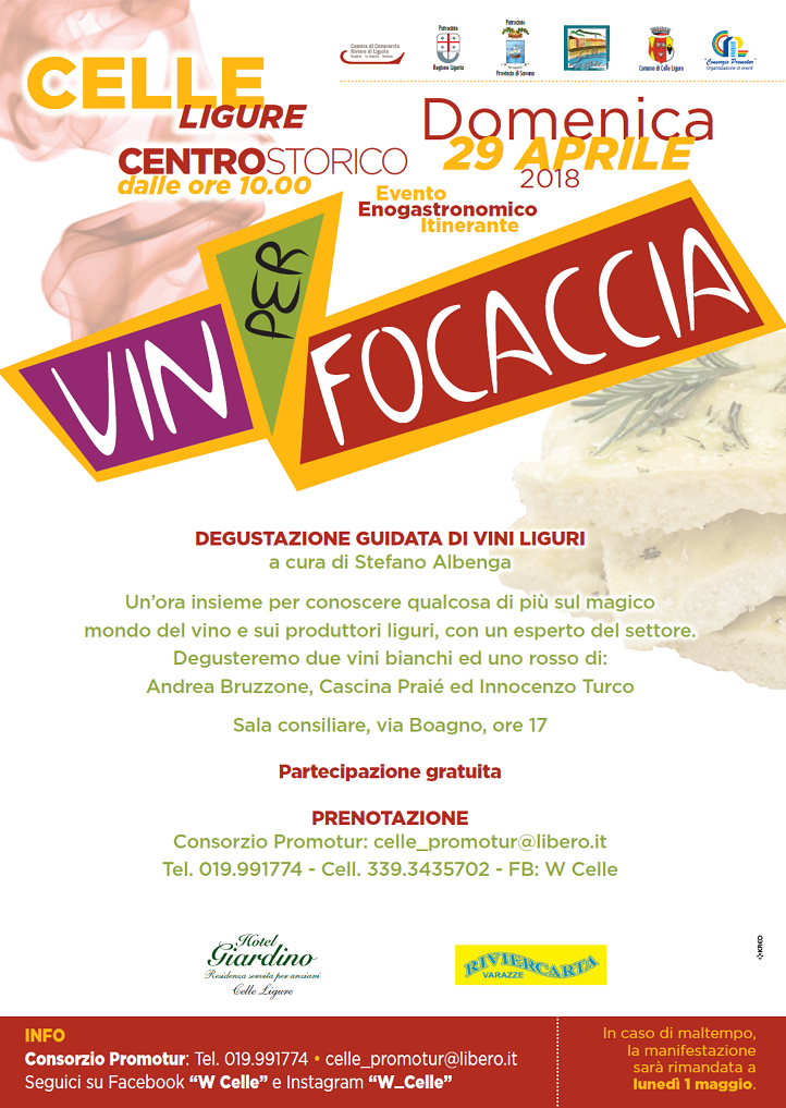 Celle Ligure-Vin per Focaccia 2018