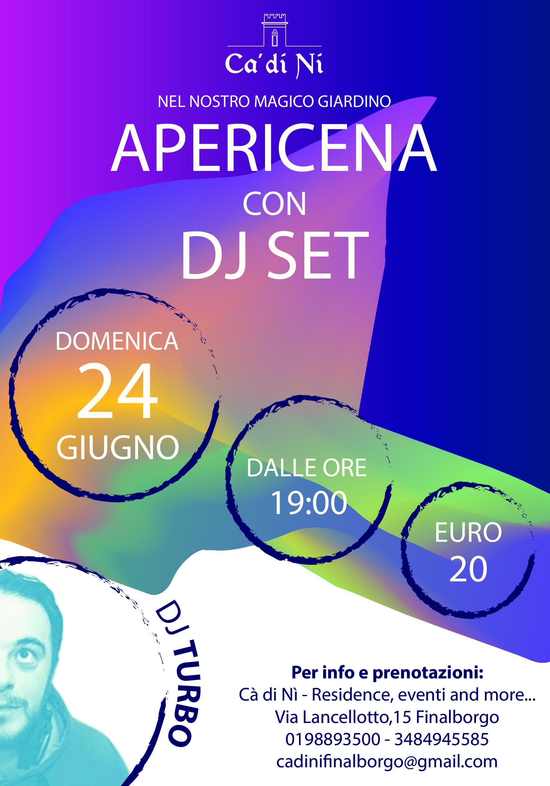 Finalborgo-APERICENA CON DJ SET A CA DI' NI'