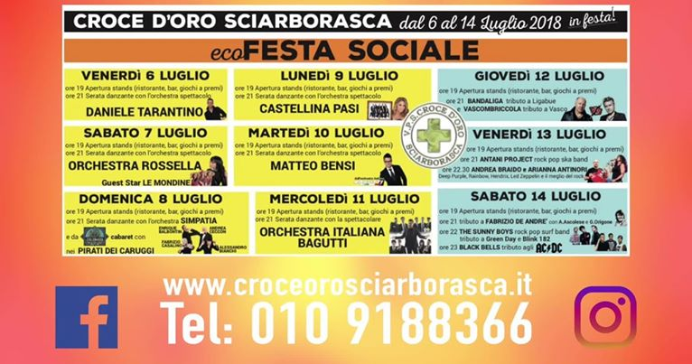 Orchestra Italiana Bagutti Calendario Serate 2019.Sciarborasca Ecofesta Sociale 2018