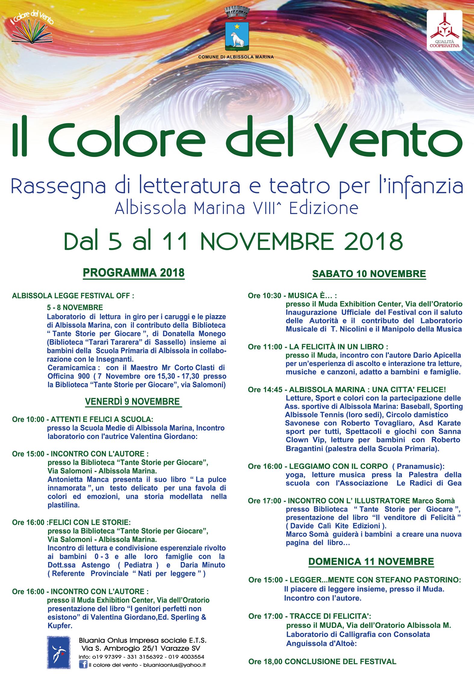 Albissola Il Colore Del Vento Il Festival Di Letteratura E Teatro