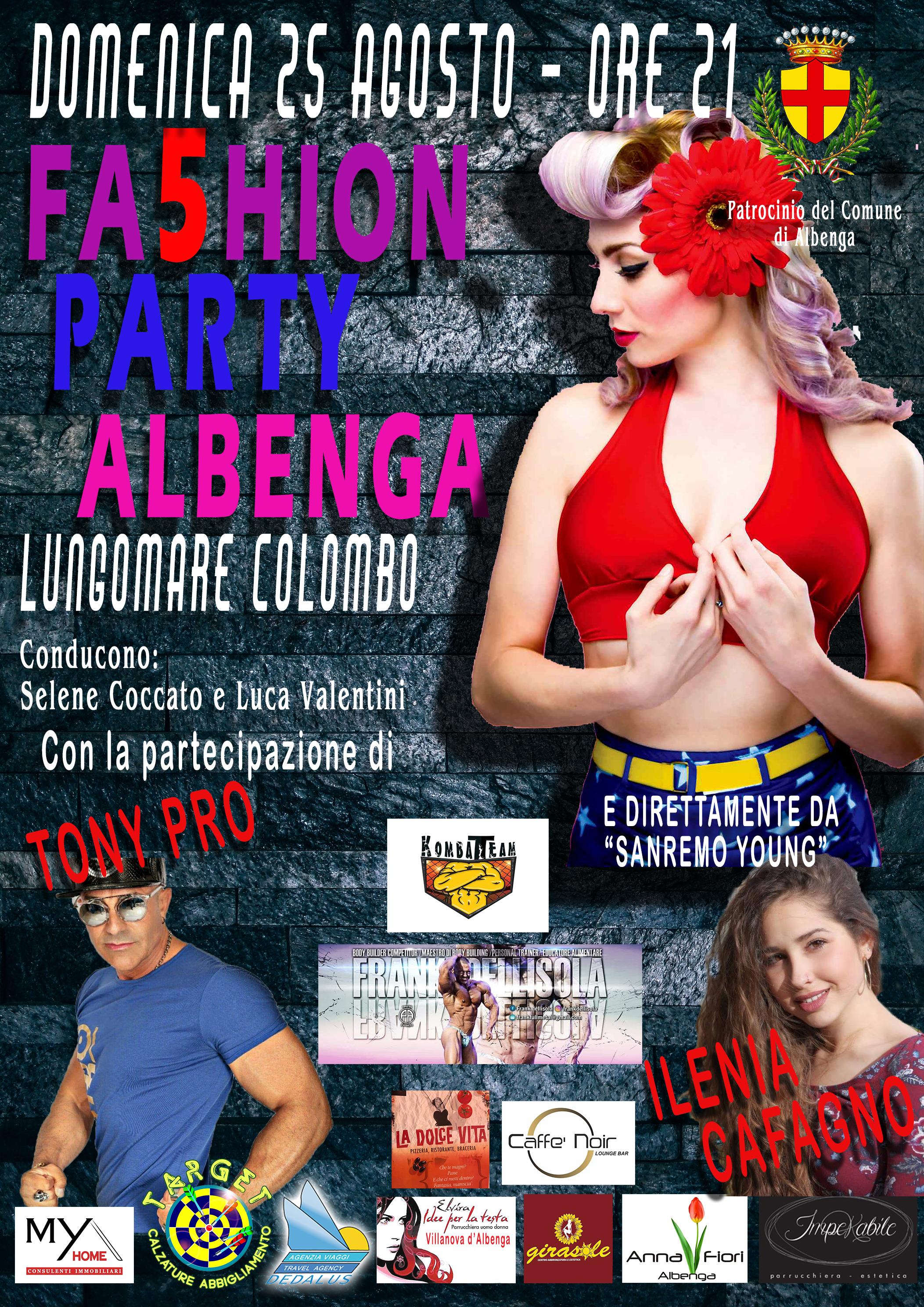 """Albenga-5° edizione del """"Fashion Party"""""""