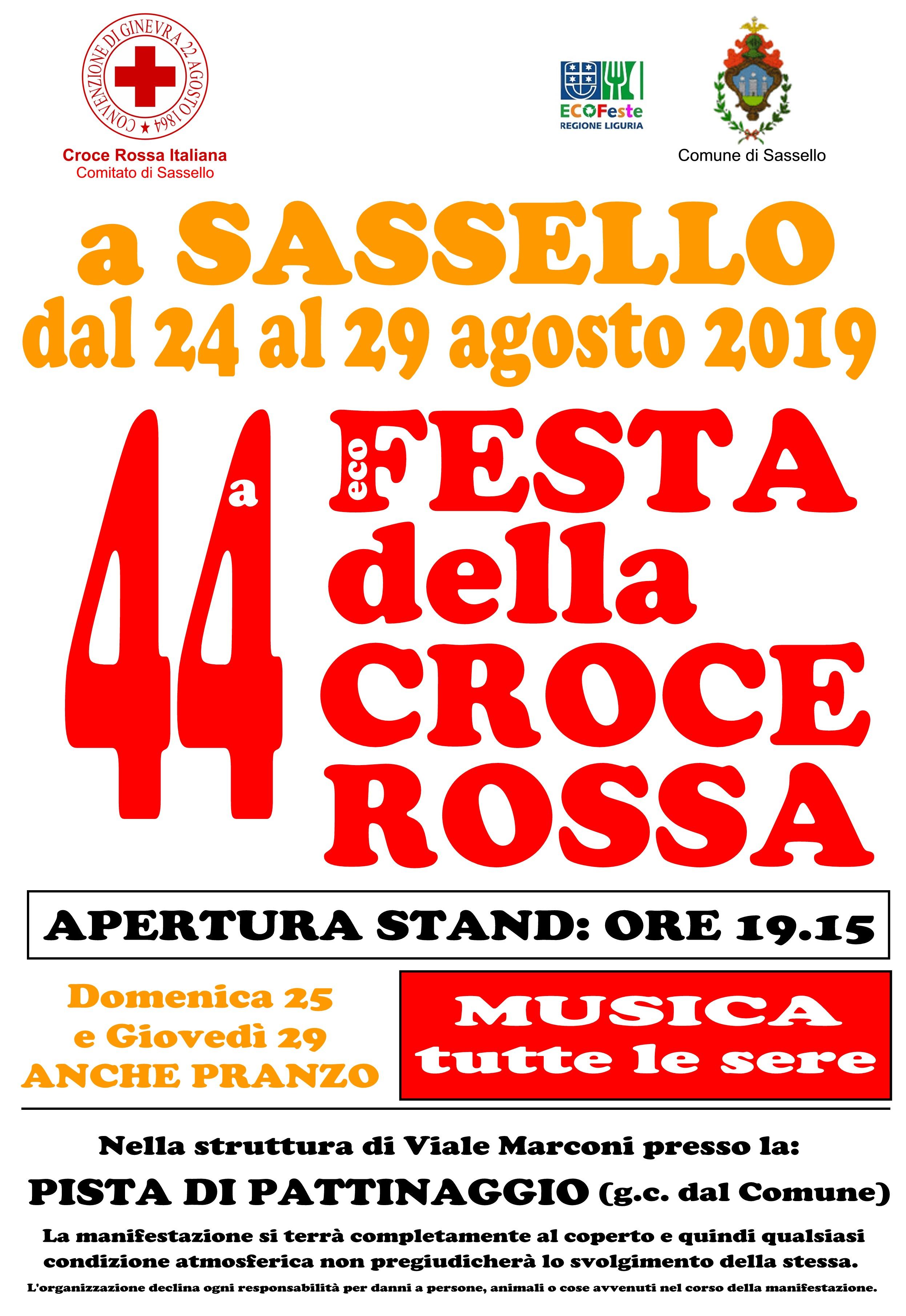 Sassello-Festa della Croce Rossa