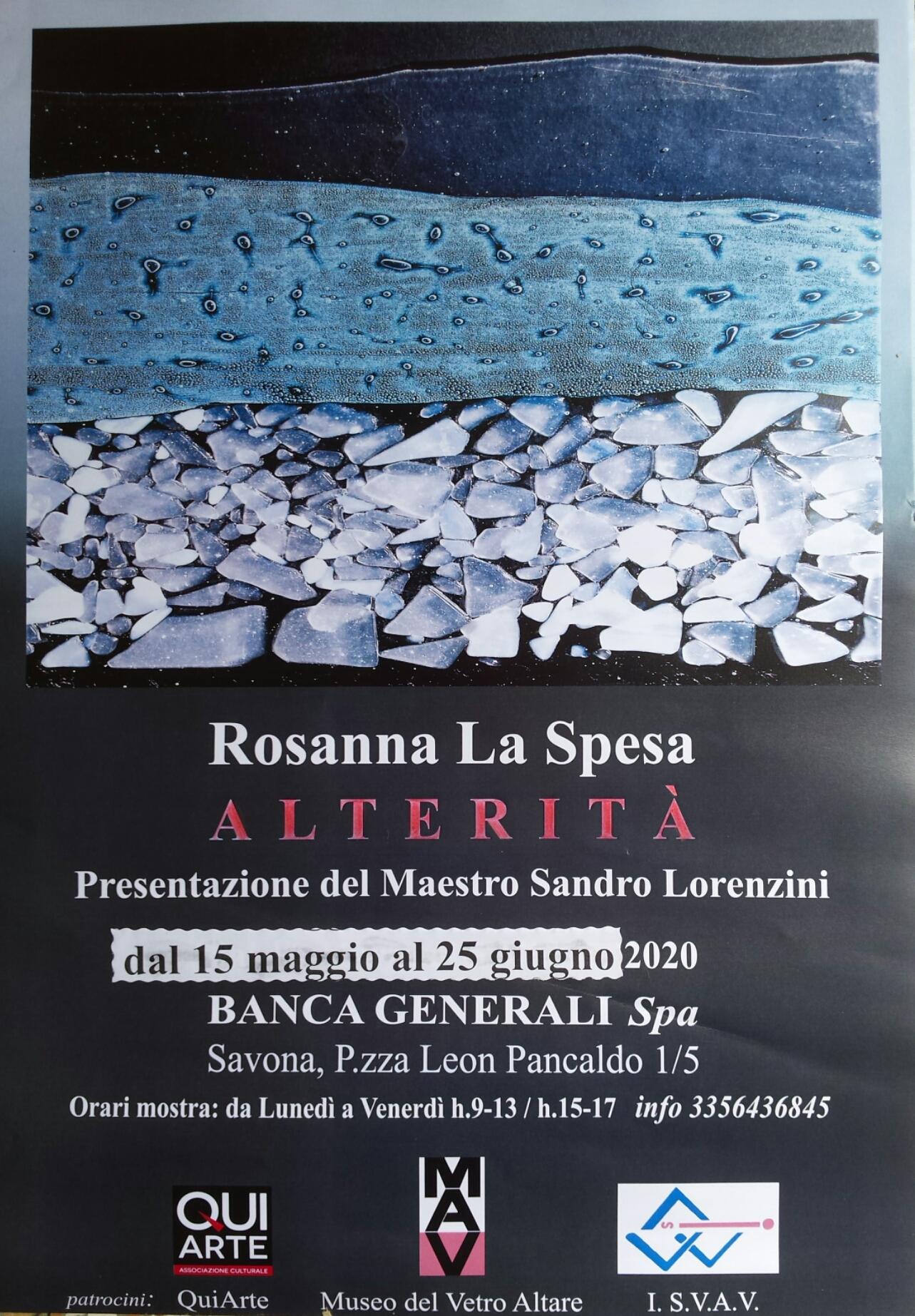 Savona-Mostra di Rosanna La Spesa