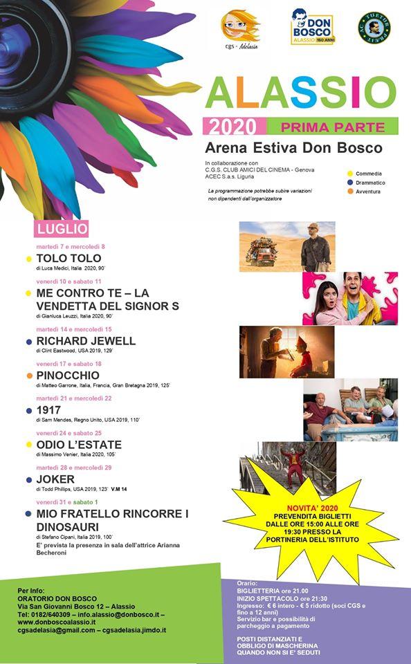 Alassio-Gli spettacolI all'Arena Estiva Don Bosco