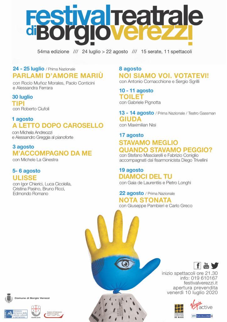 Il 54° Festival Teatrale di Borgio Verezzi-Parlami d'amore Mariù
