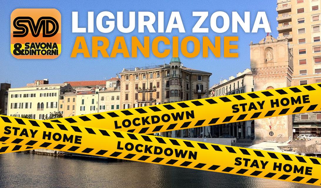 Liguria in zona Arancione