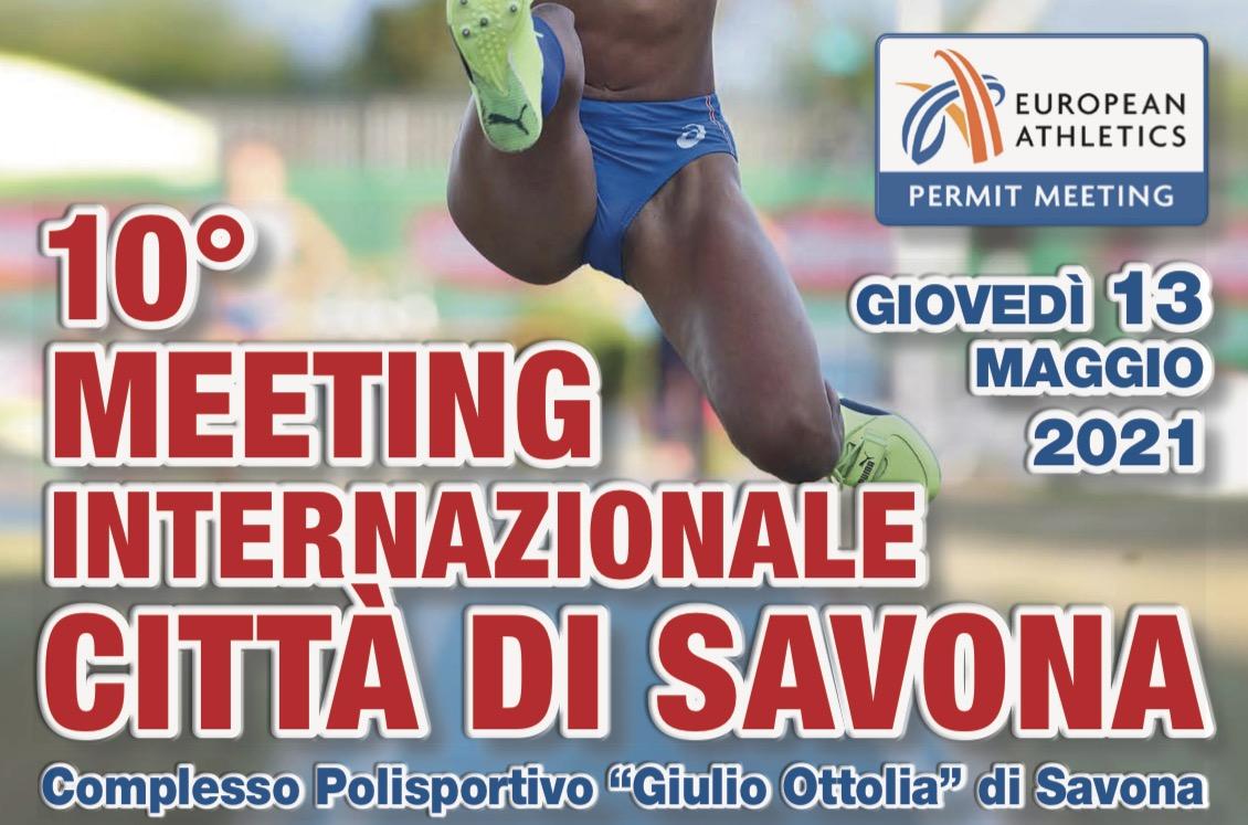 Il velocista Filippo Tortu a Savona